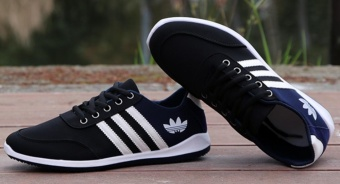 Men's new sports shoes summer breathable casual shoes (black) -intl - 5