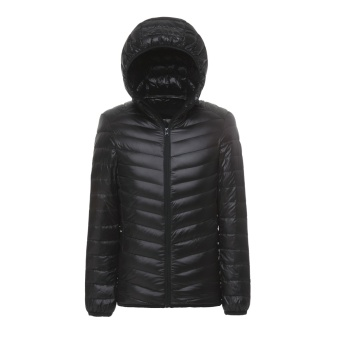 Men's Packable Down Jacket Ultra Light Down Compact Hooded Coat -intl