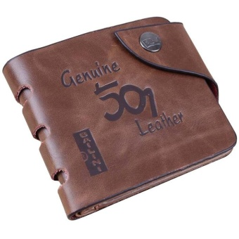 Mens Retro Genuine Leather Bifold Wallet