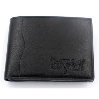 Mens Short Wallet With Simcard Pocket Holder ( Black )