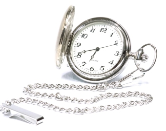 Men's Silver Brass Pocket Watch - picture 2