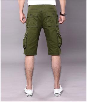 Men's Six Pocket Cargo Short (Army Green) - 4