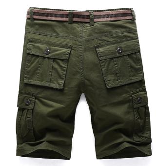 Men's Six Pocket Cargo Short (Army Green) - 2
