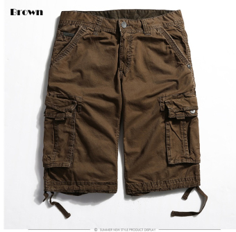 Men's Six Pocket Cargo Short (Brown)