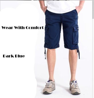 Men's Six Pocket Cargo Short (Dark Blue )