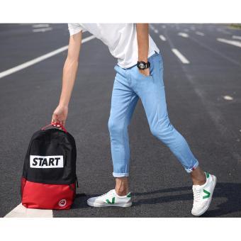 Men's Street Swaggy Plain Light Blue Jeans - 2