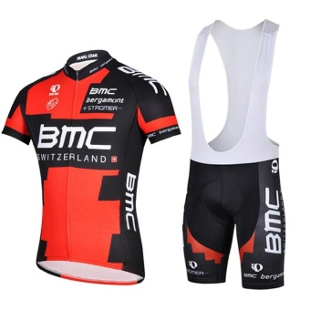 Mens Summer Cycling Jerseys Cycling Clothing Bike Pro Sport WearGel Breathable Pad Bib Shorts - intl