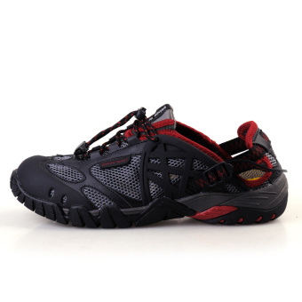 Men's Wading Shoes River Trekking Shoes Outdoor Sports Shoes SuperDurable Hiking Shoes Light Mountain Climbing Shoes Travelling ShoesBlack - intl