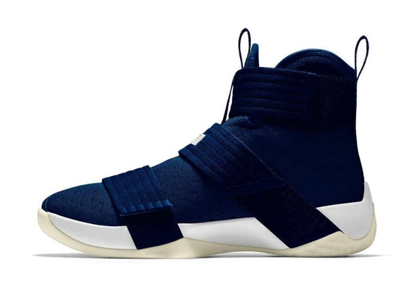 Men's Zoom Basketball Shoes Soldier 10 iD Basketball Shoe Dark Navy- intl