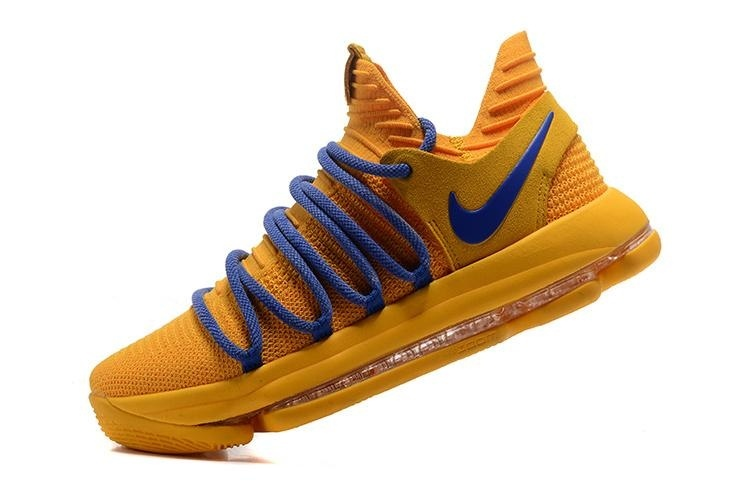 Men's Zoom KD10 EP Basketball Shoes Yellow / blue - intl - 3