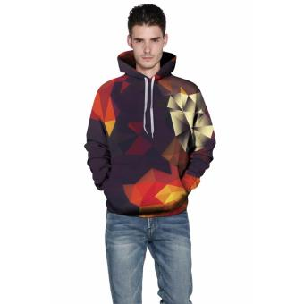 Men/Women Hoodies Print Color Blocks Autumn Winter 3D Sweatshirts Plus Size