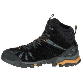 Merrell Capra Mid Waterproof (Black/Orange) - 5