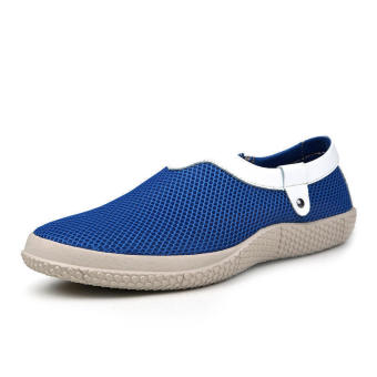 Mesh Mens Fashion Loafers - Blue