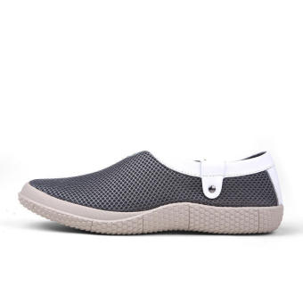 Mesh Mens Fashion Loafers - Grey - picture 2