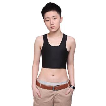 MG Breathable Buckle Short Chest Breast Binder Trans (Black) - intl Price Philippines