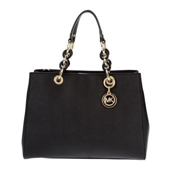 Michael Kors Cynthia Medium Satchel - Black