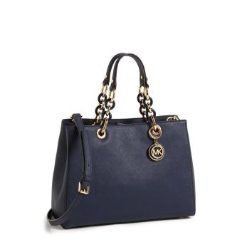 Michael Kors Cynthia Medium Satchel - Blue