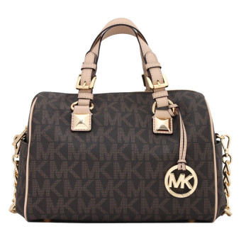 Michael Kors Grayson Monogram Medium Satchel (Brown)