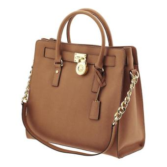 Michael Kors Hamilton Large Saffiano Leather Tote Bag (Brown)