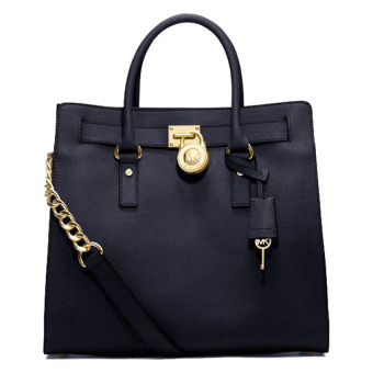 Michael Kors Hamilton Large Saffiano Leather Tote (Black)