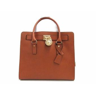 Michael Kors Hamilton Saffiano Leather Large Tote Bag - Brown