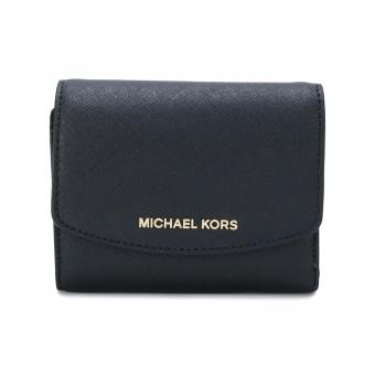 Michael Kors Logo Plaque Wallet - Black