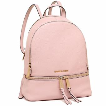 Michael Kors Rhea Medium Leather Backpack - Pink - 2