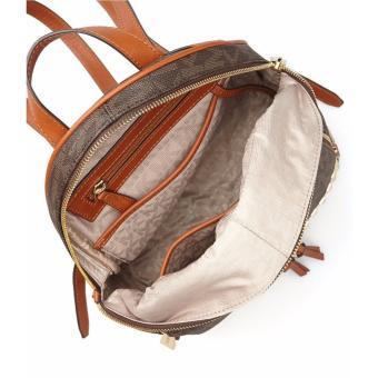 Michael Kors Rhea Zip Medium Studded Backpack - Brown - 2
