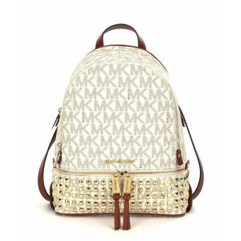Michael Kors Rhea Zip Mini Studded Backpack - Vanilla