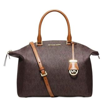MICHAEL KORS Riley Large Logo Tote Bag Brown