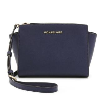 MICHAEL KORS Selma Mini Cross-body Satchel NAVY