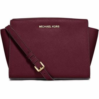 MICHAEL KORS Selma Mini Saffiano Leather Crossbody MERLOT