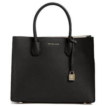 MICHAEL KORS STUDIO Mercer Large Leather Tote BLACK
