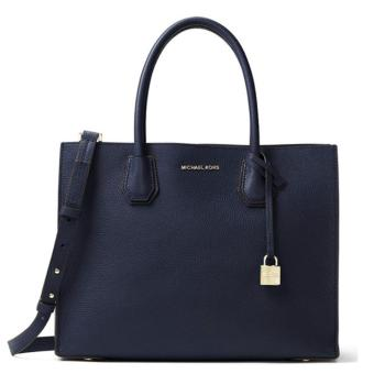 MICHAEL KORS STUDIO Mercer Large Leather Tote NAVY