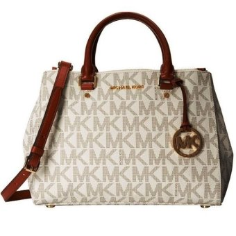 Michael Kors Sutton Satchel Monogrammed (Optic White) Price Philippines