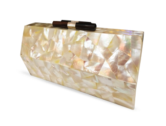 Mika and Gela Claude Shell Clutch Bag (White) - picture 2