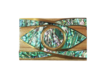 Mika and Gela Oculus Clutch Bag (Green)