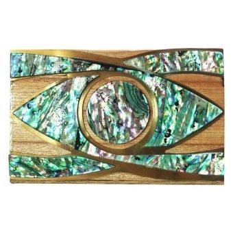 Mika and Gela Oculus Clutch Bag (Green / Brown)