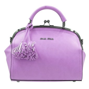 MIN MIN Lightweight Women's Sling Top Handle Bag FashionableLeather Clutch Bag 8859 (Intense Purple) Price Philippines