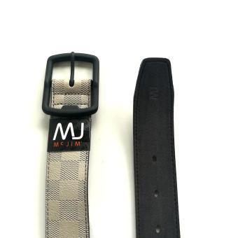 MJ BY MCJIM Fashionable Leather Belt MJF-19868-40 Light Gray - 3