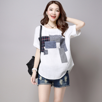 MM art Linen Plus-sized Women's Top T-shirt Price Philippines