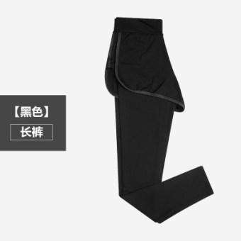 MM female Spring and Autumn outerwear thin sports pants leggings (Black pants)