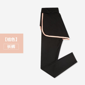 MM female Spring and Autumn outerwear thin sports pants leggings (Orange pants)