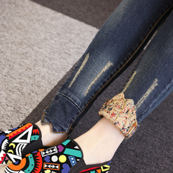 MM Korean-style autumn Women's embroidered pencil pants
