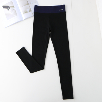 MM Korean-style cotton autumn female ankle-length pants leggings (Black)
