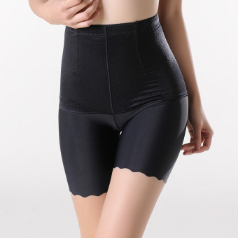 MM viscose fibre thin high-waisted belly holding safety shorts (Black)