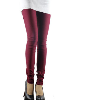 Mm200 New style Plus-sized autumn women's pants leggings (Red Wine)