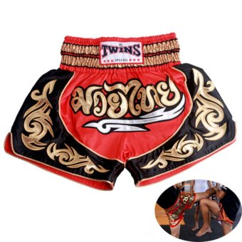 MMA Shorts Muay Thai Boxing Shorts Tights Fight Fitness Shorts For Kids Men - intl