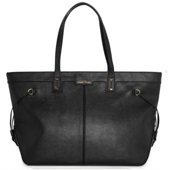 MNG Mango Carry All Saffiano Shopper Bag (Black)