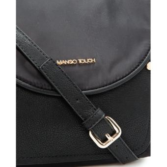 MNG Mango Nylon Crossbody Bag (Black) - 3